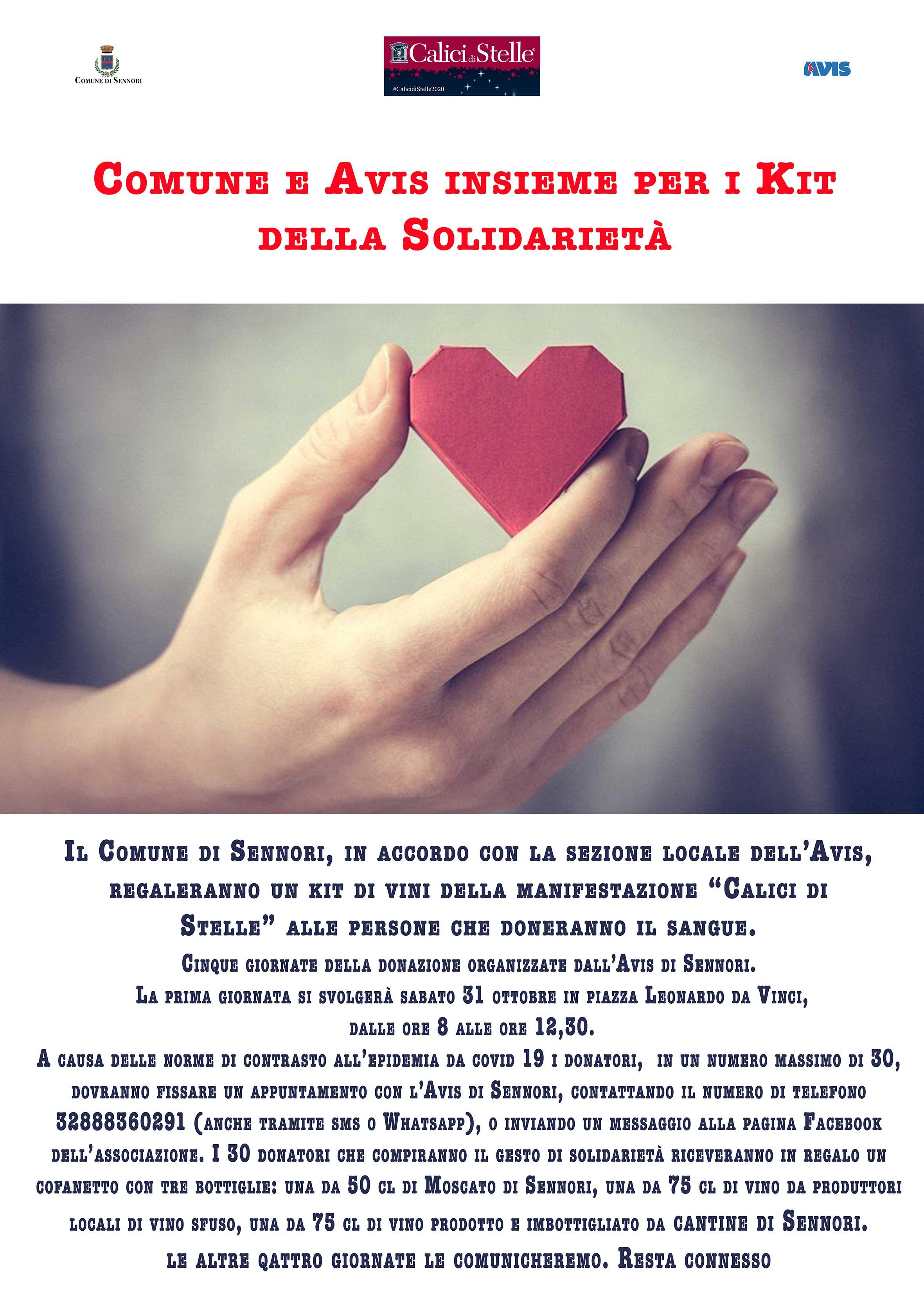 Comune di Sennori e Avis insieme  per i Kit della Solidarietà