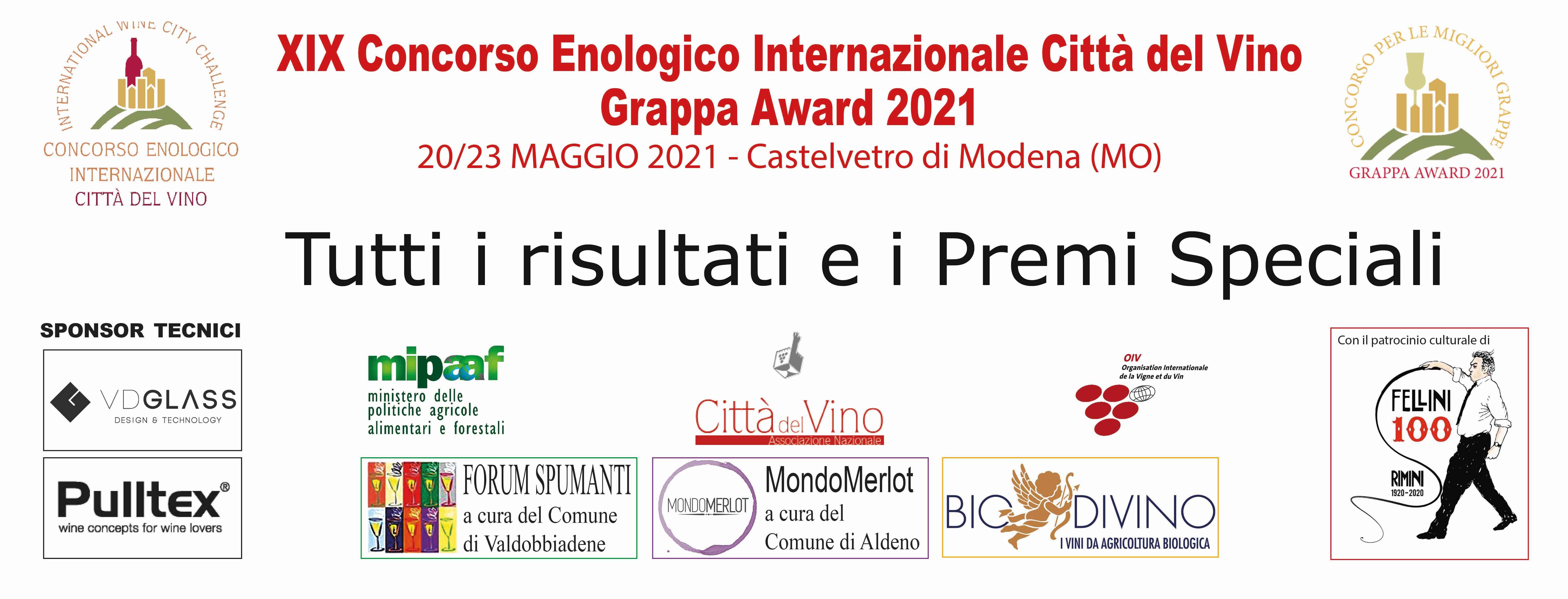 I risultati del Concorso Enologico Internazionale Città del Vino 2021