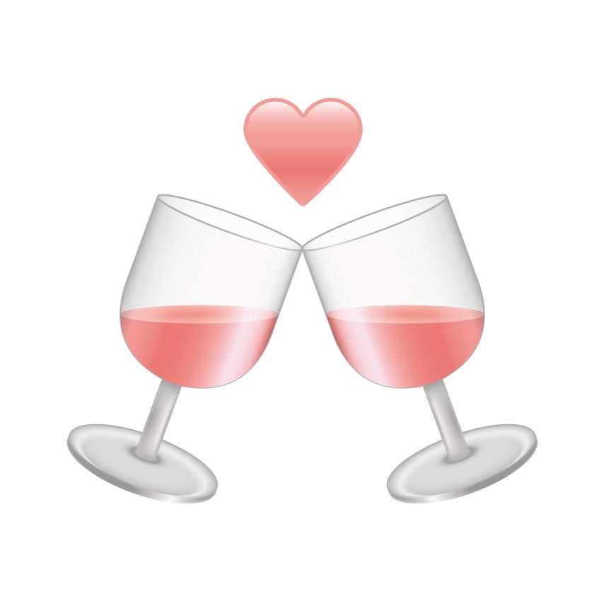 L'emoji dedicata al vino rosa