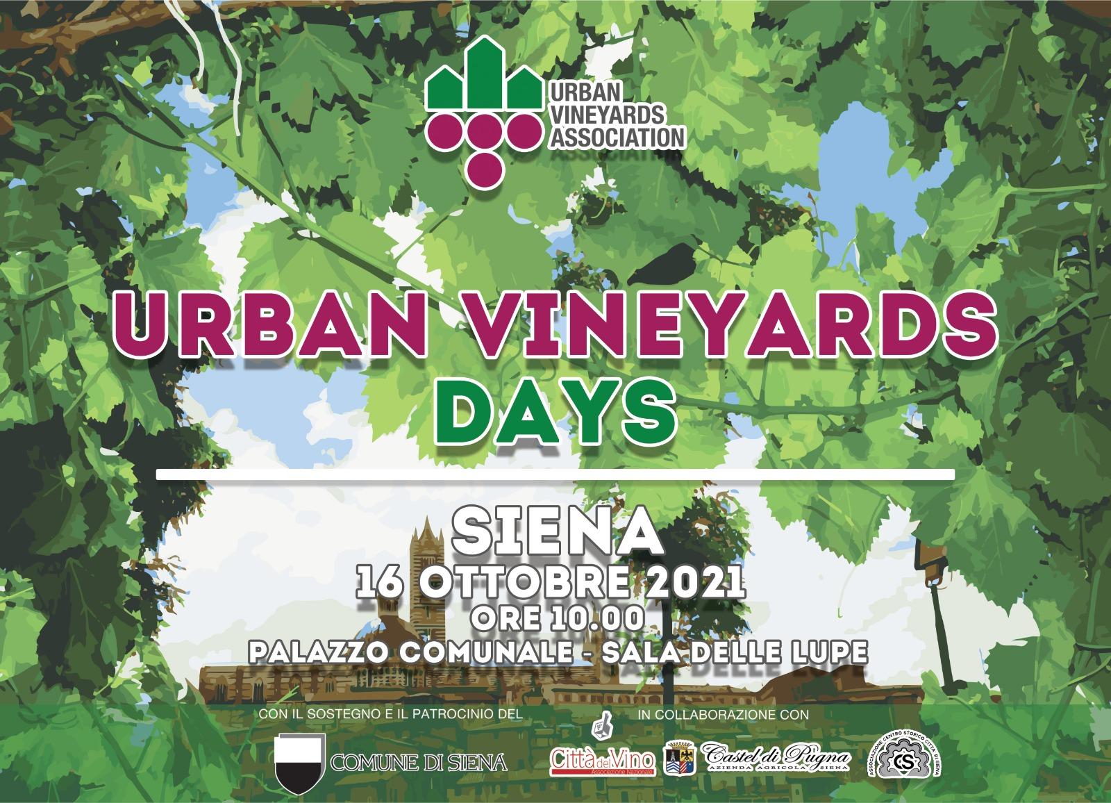 Urban Vineyards Days. Le città delle vigne storiche s'incontrano a Siena