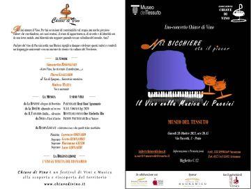 Il vino nella musica di Puccini. Eno-concerto al Museo del Tessuto di Prato